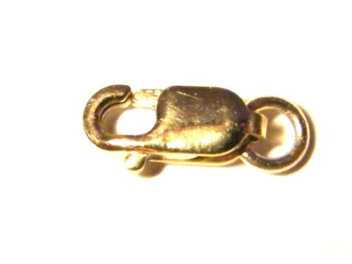 9ct Yellow Gold Lobster Claw Oval Clasp 11mm  w//Jump Ring-Necklace-Findings-.375