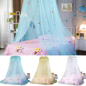 Image Is Loading Pink Blue Round Lace Curtain Dome Tent Bed