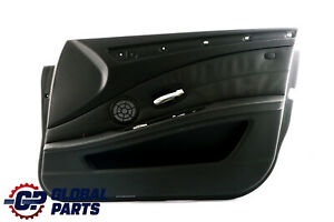 BMW-5-Series-E60-E61-LCI-Front-Right-O-S-Door-Card-Lining-Leather-Panel-Black