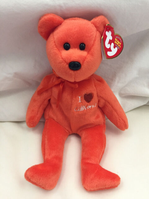 I Love California Bear MWMTS Ty Beanie Baby Collectible Plush Toy Gift e62d53b92dcf