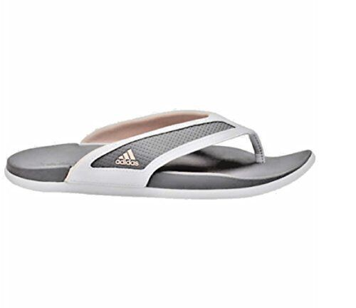 47b43a296496c Adidas Womens Supercloud-Footbed Grey Flip Flop Sandals (size 8 ...