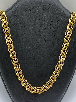 """17/"""" Italian 14k Yellow Gold Rolo Chain Necklace"""