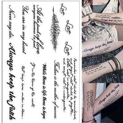Body Art Quotes Tattoo Sleeve Nylon Stretchy Temporary Fashion Arm Stockings New Ebay