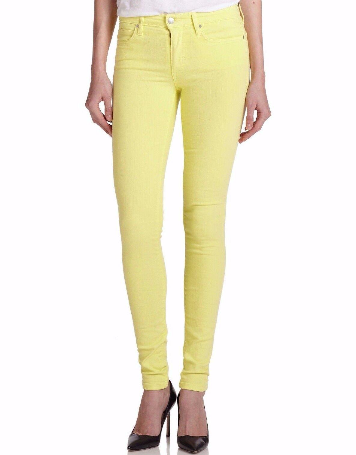 Nwt JOE´S Sz27 'Flawless' Skinny Midrise Jeans Stretch Zitrone