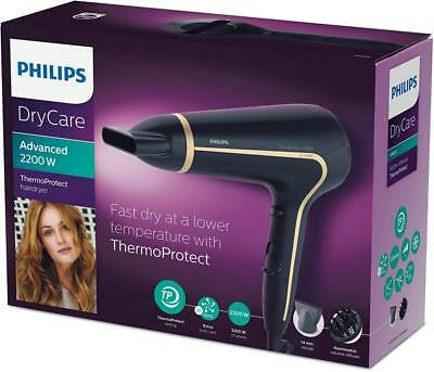 2 Philips DryCare Advanced Haartrockner mit ThermoProtect Technologie HP8232//20