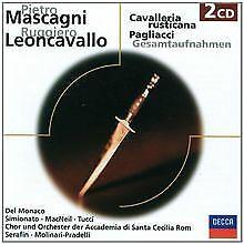 Cavalleria Rusticana/Pagliacci.(Ga) von Monaco, Simionato | CD | Zustand gut