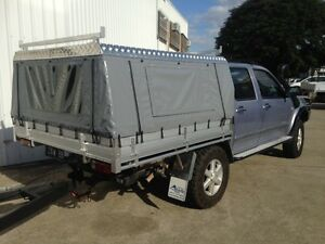 Image is loading Toyota-Hilux-Dual-Cab-Canvas-Ute-Canopy-Hard- & Toyota Hilux Dual Cab Canvas Ute Canopy - Hard Roof Vinyl Sides | eBay