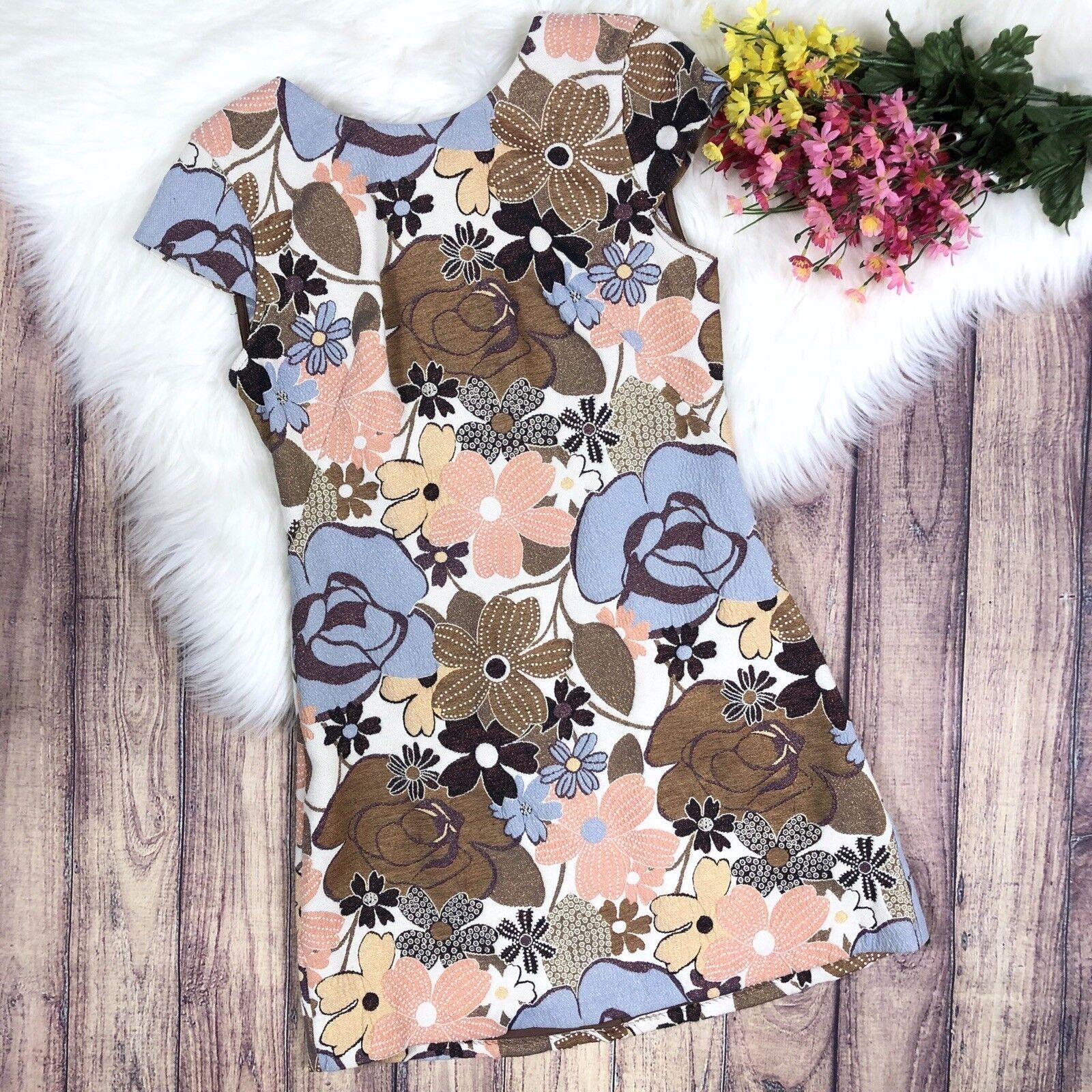 36a1dd0fb6c Trafaluc Floral Cap Sleeve Dress Size Medium Zara ncuqlj7952-Dresses ...