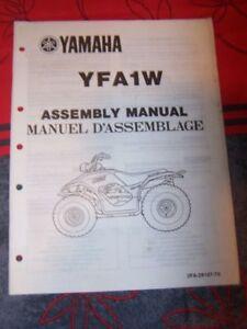 2a - Notice/manuel Montage/assemblage Supplement Yamaha Quad Yfa1w Yfa 1w êTre Nouveau Dans La Conception