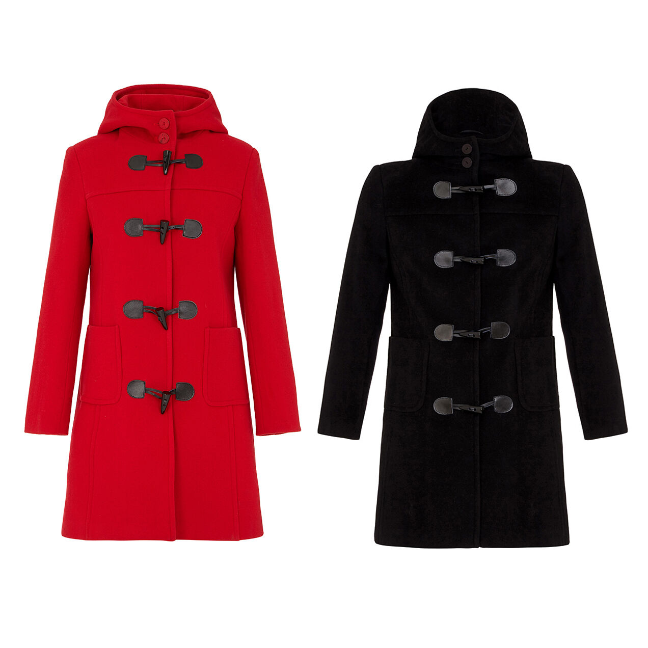 NEW LADIES DUFFLE COAT - Luxury Cashmere & Wool Made in England