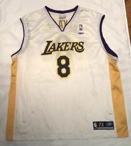Details about Kobe Bryant Los Angeles Lakers NBA Jersey Men Reebok Sewn Sunday White #8