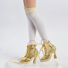 "Sherry Shoes Boots for BJD Delilah Noir Ellowyne Wilde 16""Tonner Doll Golden"