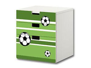 Fussball Aufkleber Passend Fur Die Kommode Ikea Stuva 3 Facher