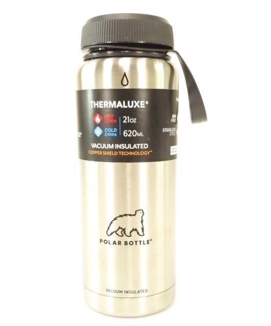 Polar Bottles Thermaluxe Water Bottle Standard Cap 21 Oz Stainless Steel Bike For Sale Online Ebay