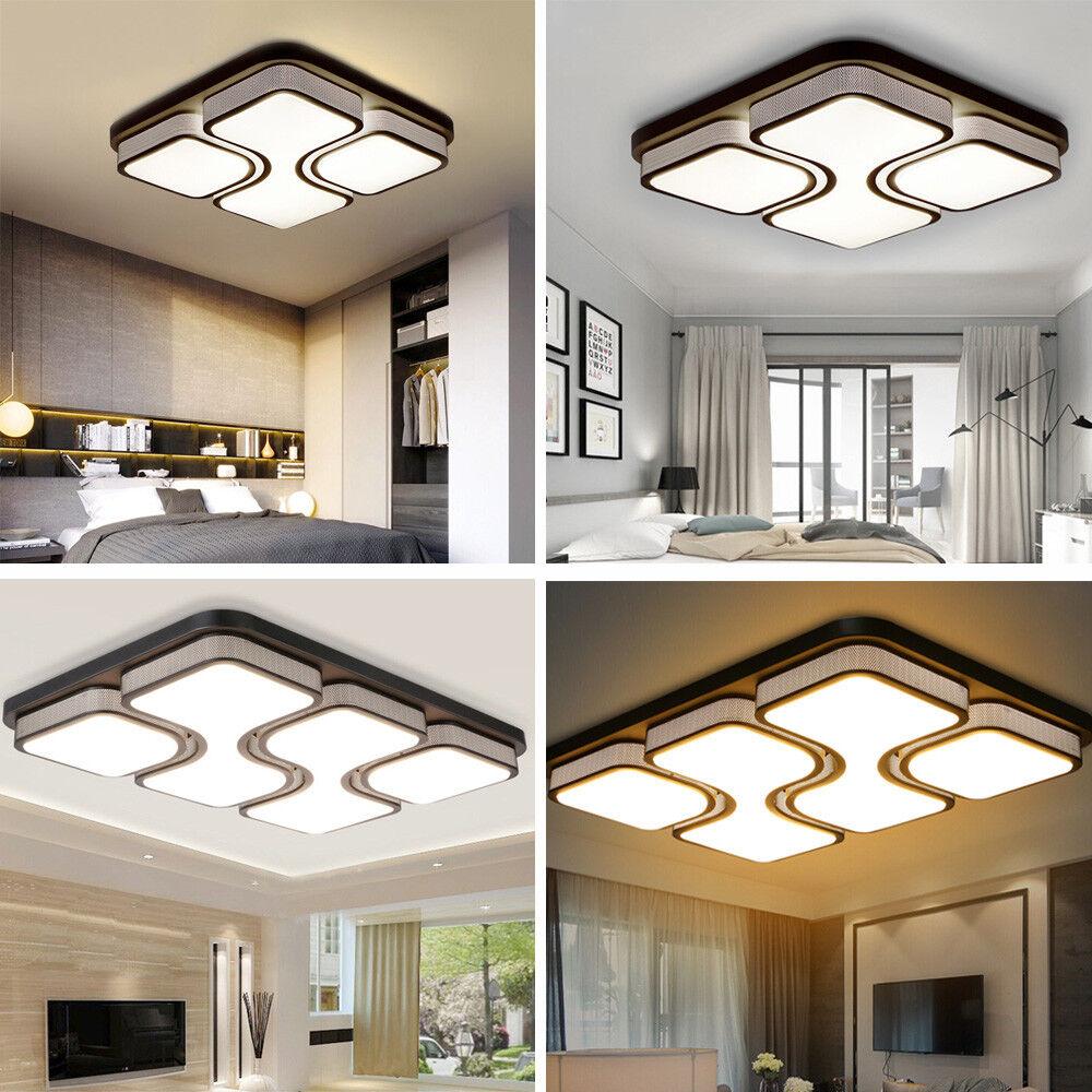 64W LED Deckenleuchte Dimmbar Wandleuchte Deckenlampe Wohnzimmer Küche IP44