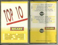RARE K7 AUDIO - TOP 10 PUBLICITAIRE RICARD / TEXAS, FRANCOIS FELDMAN, NIAGARA