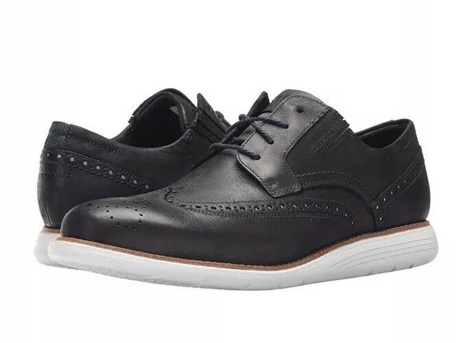 Rockport Men's Total Motion Sports Dress wing wing wing Tip Navy Größe 10 New With Box  140 f034e4