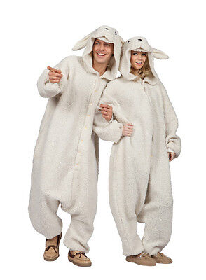 ADULT OLLIE THE SHEEP BA BA LAMB GOAT FARM ZOO ANIMAL PAJAMAS COSTUME JUMPSUIT