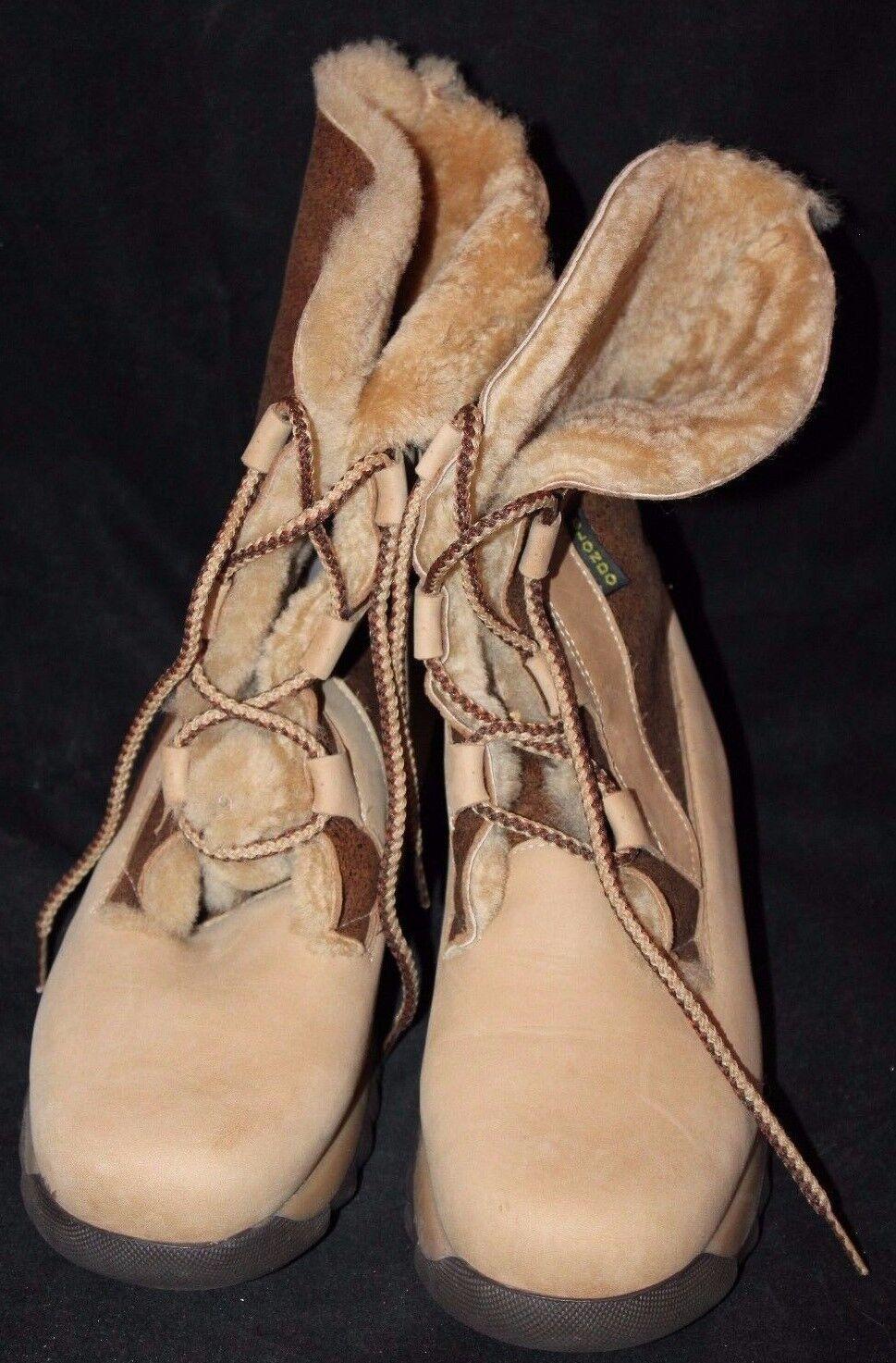 Blondo Shearling Women's Lace Up Winter Boots Size 7.5 Medium