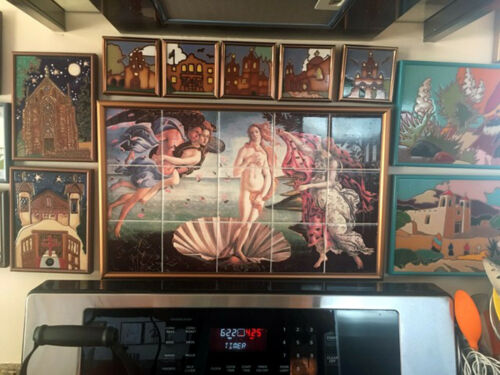 30 x 18 Birth of Venus Ceramic Mural Backsplash Bath Tile Decor #162
