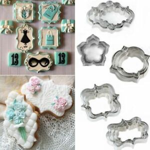 4PCS-Stainless-Steel-Fancy-Plaque-Frame-Fondant-Cake-Mold-Mould-Cookie-Cutter