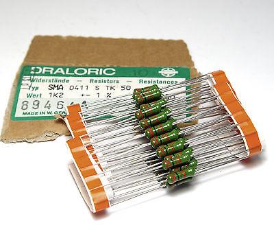 50x Schicht-Widerstand SMA 0411, 1.2 kOhm, 1 W, Film-Resistors, NOS