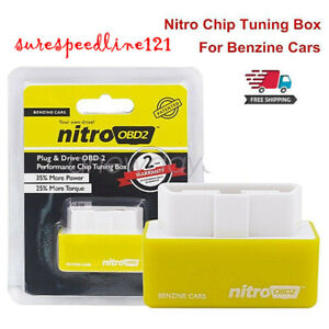 Universal ECU Bhp Power Remap Nitro OBD2 Petrol Tuning Box Chip Performance Plug