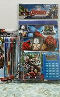 Avengers 7pc Calculator Set & Pop Up Pencil School Supply Birthday Gift Comics