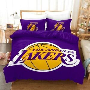 Nba Lakers Logo Basketball Duvet Cover Bedding Set Ebay