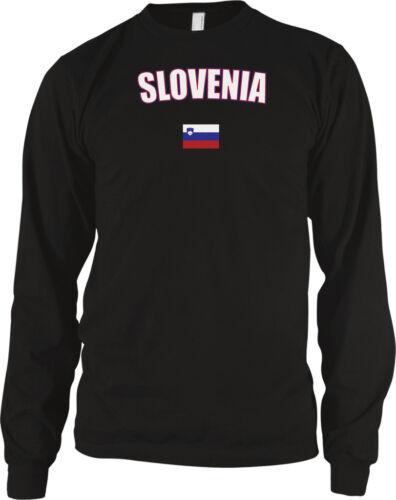 République de Slovénie Europe Ljubljana Pays Drapeau De Fierté à manches longues thermique