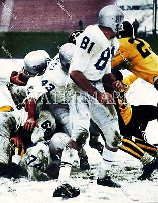JT212 1960 Buffalo Bills Vs Denver Broncos Snow Game 8x10 11x14 Colorized Photo