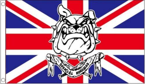 British Bulldog Great Britain GB Official Hooligan Anti-Europe 5/'x3/' Flag