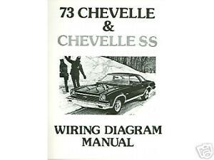 1973 73 Chevelle Ss El Camino Wiring Diagram Manual Ebay