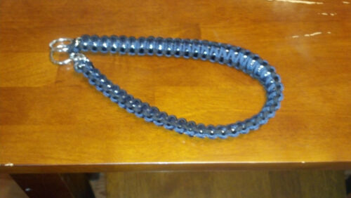 Paracord wrapped bop chains//Dog choker chain