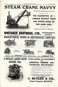 WHITAKERS-STEAM-CRANE-NAVVY-LEEDS-STRAW-CHOPPING-MACHINES-ROAD-LOCOMOTIVES
