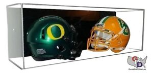 39dbe2a5 Details about ACRYLIC WALL MOUNT FOOTBALL Double Mini Helmet DISPLAY CASE  UV HOLDER A