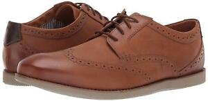 Uomo-Scarpe-Clarks-raharto-Wing-Comfort-in-Pelle-Oxfords-33180-Dark-Tan