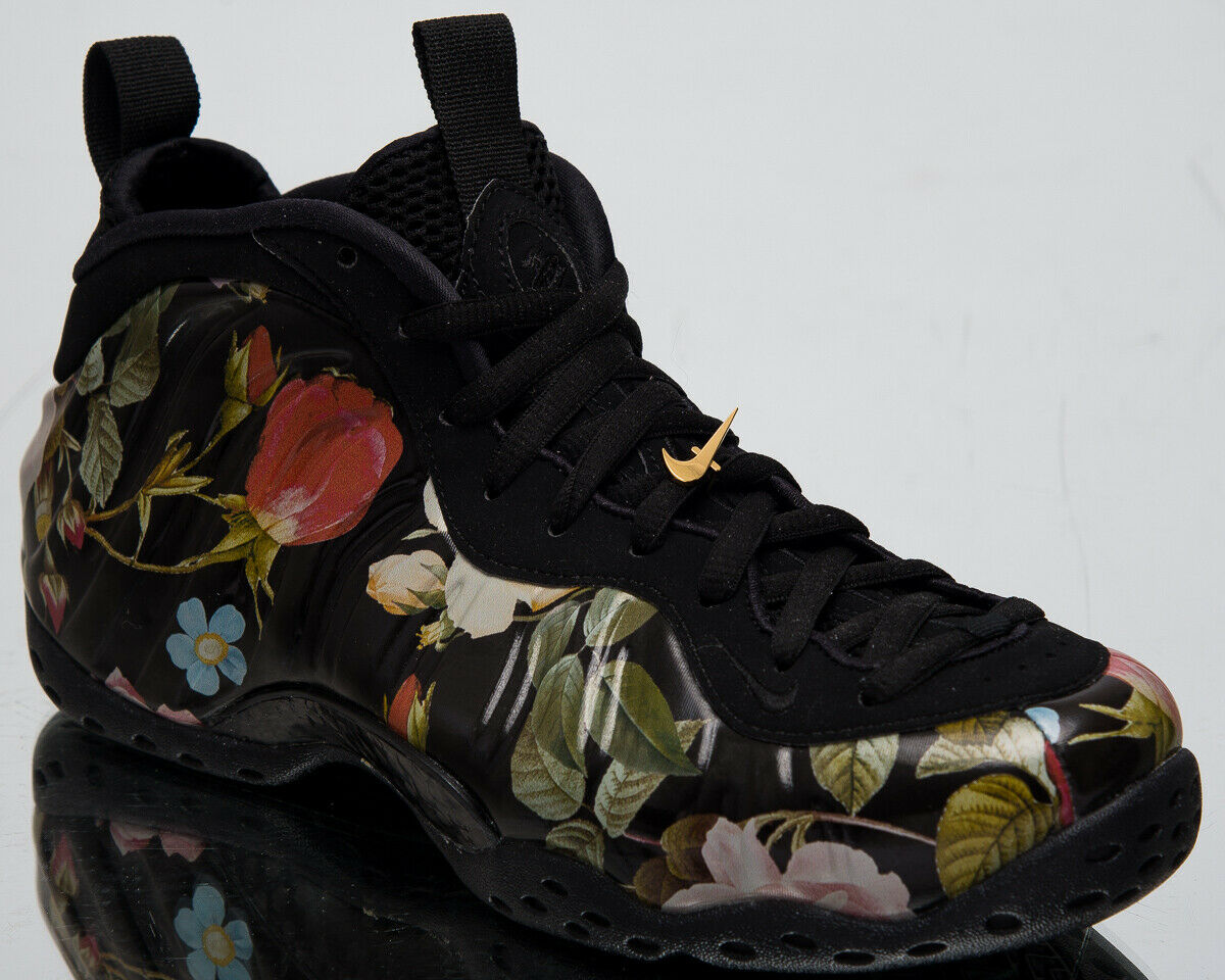 Nike Air Foamposite One  Floral  Men's New Black Lifestyle Sneakers 314996-012