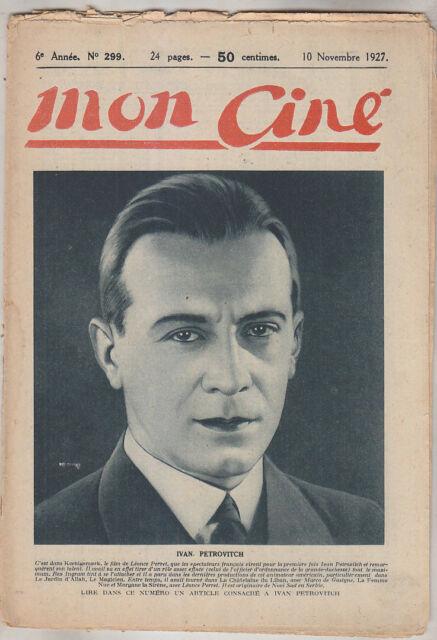 C1 CINEMA Mon Cine # 299 1927 Ivan PETROVICH Ica de LENKEFFY