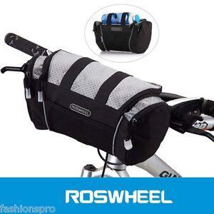 ROSWHEEL-5L-bicicletta-manubrio-Borsa-anteriore-TUBO-tasca-spalla-PACCO