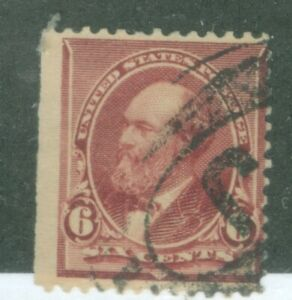 US-224 JAMES A GARFIELD 6c ISSUED 1890-93  CANCELLED