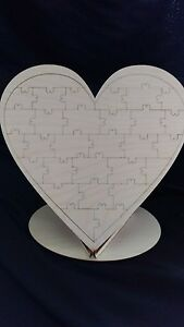 In-legno-Matrimonio-Guest-Puzzle-con-supporto-Libro-degli-ospiti-Puzzle-da-sposa-matrimonio
