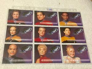 Star-Trek-Voyager-Season-One-Series-Two-9-Embossed-Trading-Cards-1995-SkyBox