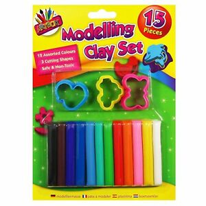 15-Piece-Non-Toxic-Modelling-Clay-Play-Dough-Set-12-Colours-amp-3-Cutters