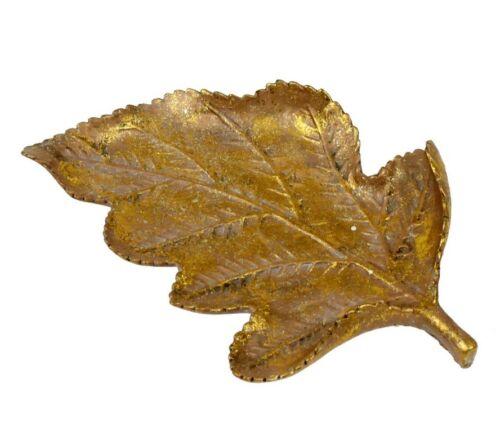 Dekoschale Herbstblatt 26 x 17cm Herbstdeko gold farben Polyresin Deko Schale
