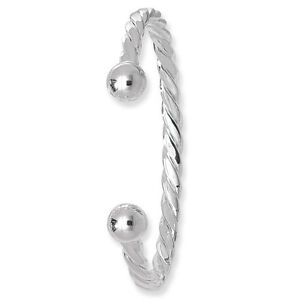 925-Sterling-Silver-Solid-Ladies-Twisted-Torque-Cuff-Bangle-20-90gr-Heavy-7-5-034