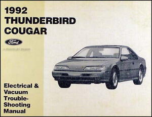 1992 Ford Thunderbird and Mercury Cougar Electrical Troubleshooting