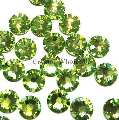 144 Swarovski 2058 6ss crystal flatbacks rhinestones nail art ss6 PERIDOT (214)