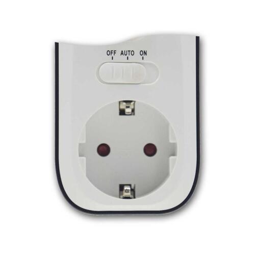 Infrarot Bewegungsmelder Steckdose mit Dämmerungs Sensor PIR Zwischenstecker IR