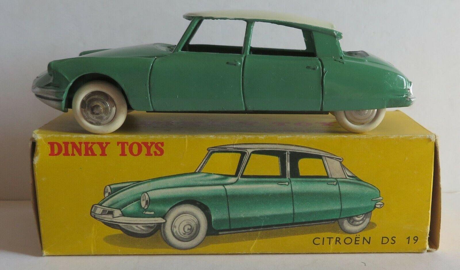Dinky Toys 24 C Citroën DS 19 - Modèle Sans Vitre + Boite - Originale